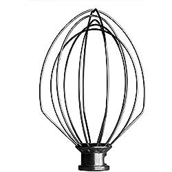 Kitchenaid 18.5cm Véritable Professionnel Bowl Lift Stand Mélangeur 5QT Fil Fouet (Pas Pour Artisan) K5AWW. WPW10731415