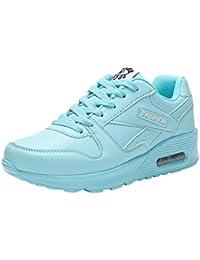 Zapatillas de deporte senderismo de mujer y Chica,Zapatos de mujer de moda Zapatos Casuals Zapatos para caminar al aire libre Flats Lace Up Ladies Shoe