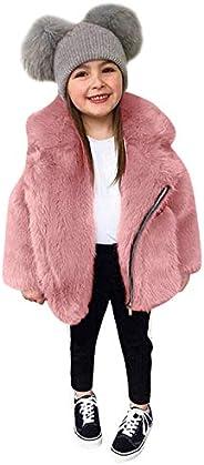 Niña Abrigo de Todo Fósforo de Color Sólido Cálido de Invierno para Niñas Prendas de Vestir Cálidas y Gruesas