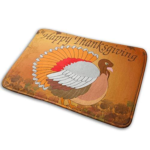 Badematte Erntedank die Türkei Tier Nauf Slip Bad Teppich waschbar Bad weich Küche Boden Fußmatte