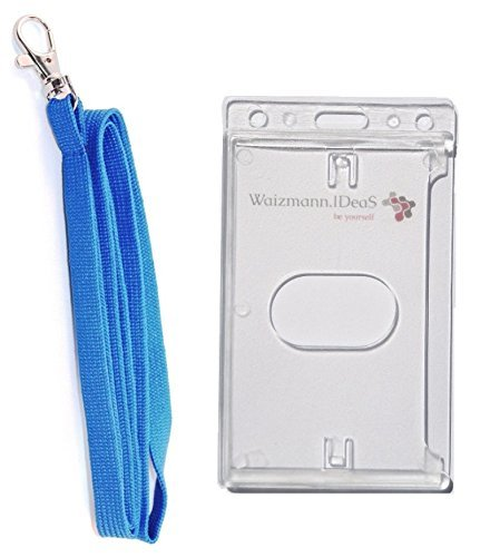 waiz-mannideasr-badge-set-lanyard-chiavi-band-cordino-da-collo-bianco-portatessere-cover-porta-carte