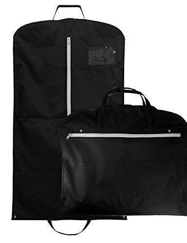 OWLMO - Eleganter Kleidersack/Kleiderhülle mit XXL Staufach   Tragegriffe für knitterfreien Transport   Anzugtasche/Anzugsack 110x63cm   Atmungsaktiv   Faltbar   Kleidertasche auch für Hemd und Kleid