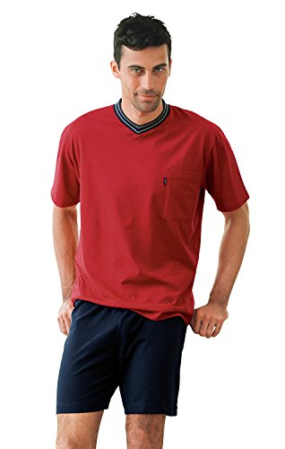Ammann Herren Schlafanzug kurz 7429, rot, 48