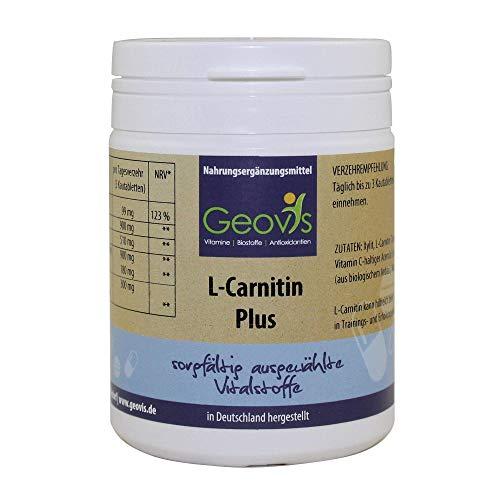 L-carnitin Plus Vitamin (Geovis | L-Carnitin Plus | Komplex aus L-Carnitin + Vitamin C, Macawurzel + Yamswurzel + Kreatin | Leistung, Energie und Fettabbau | Nahrungsergänzung)