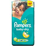 Pampers Baby Dry couches Taille 5 Grand format 54 par lot de 5