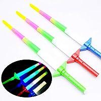 Wudi 1PC niños LED Light-Up Resplandor de la Varita Sticks Sticks Hada Varita Brilla la Fiesta de cumpleaños Decoración Bastos (Cuatro Palos Parte)