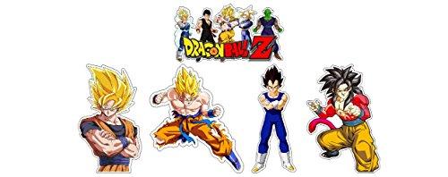 5 Aufkleber Set Krieger Warriors Fighters Japan Anime Cartoon Animation Manga Game Aufkleber Sticker + Gratis Schlüsselringanhänger aus Kokosnuss-Schale + Auto Motorrad Laptop Racing Tuning Motorsport