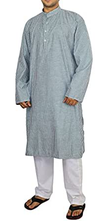 Clothes For Men Traditional Indian Outfit Kurta Pajama Set,Cotton Size M