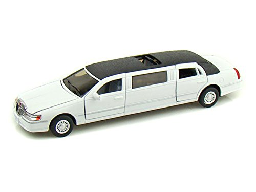 kinsmart-1-38-scale-diecast-1999-lincoln-town-car-stretch-limousine-in-color-white-by-kinsmart