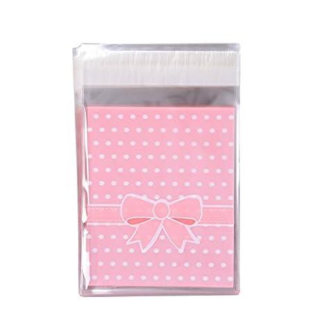 Jolies Couleurs double Sac en polypropylène Candy Wrapper faite à la main Gâteau Wrapper Bowknot Sac d'emballage pour fille de fête pour