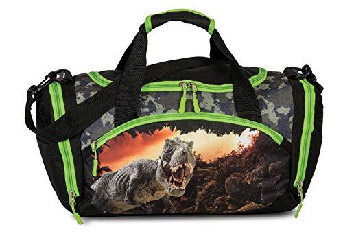 FABRIZIO Kindersporttasche Sporttasche Reisetasche Dino schwarz