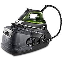 Rowenta Silence Steam Pro Centro de Planchado, autonomía ilimitada, 8 Bares, Golpe de Vapor 625 g/min, Suela Microsteam Laser 400, función Eco y depósito Cal, 2800 W, 1.3 litros, Negro y Verde