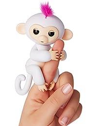 Wow Wee - Fingerlings  - bébé singe Ouistiti interactif, 12cm, blanc