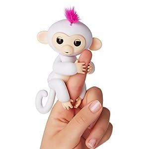 WowWee - Fingerlings Interactivo bebé mono, Blanco (3702)
