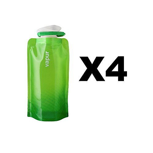 vapur-shades-18oz-water-bottle-green-flexible-flask-anti-bottle-05l-4-pack