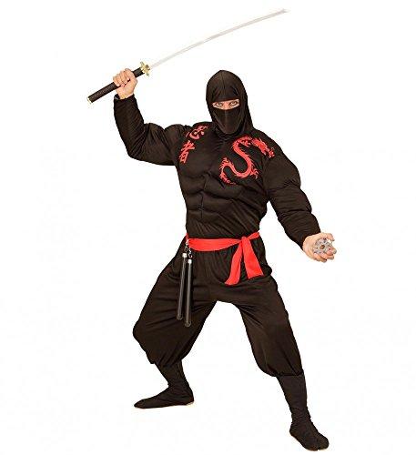 Kostüm Super Muskel Ninja für Herren Samurai Kämpfer Erwachsene, Größe:XL