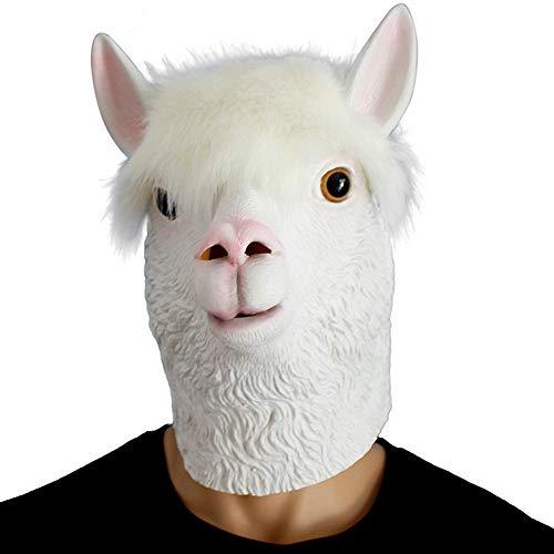 TianWlio Karnevals Maske Spielzeug Party Story Neuheit Latex Kopfmaske Kostüm Party Maske Tier Alpaka