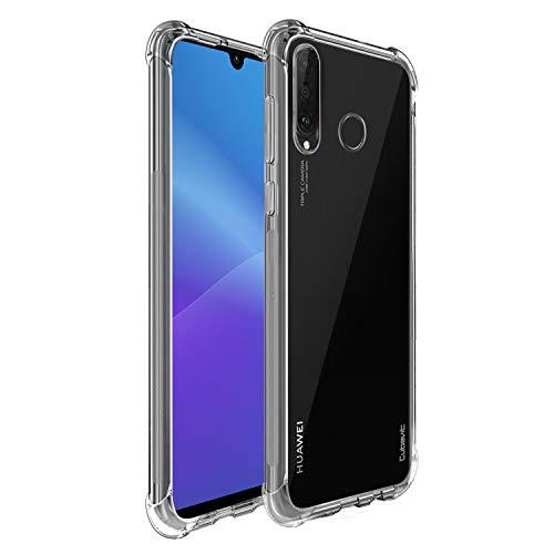 Cubevit Huawei P30 Lite Hülle, [Lebenslange Ersatzgarantie] [Crystal Clear] Case Cover, Ultra Dünn Premium Soft TPU Schutzhülle, Kratzfest Durchsichtige Silikon Slim Handyhülle für Huawei P30 Lite