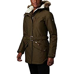 Columbia Carson Pass II Chaqueta Impermeable, Mujer, Verde (Olive Green), M
