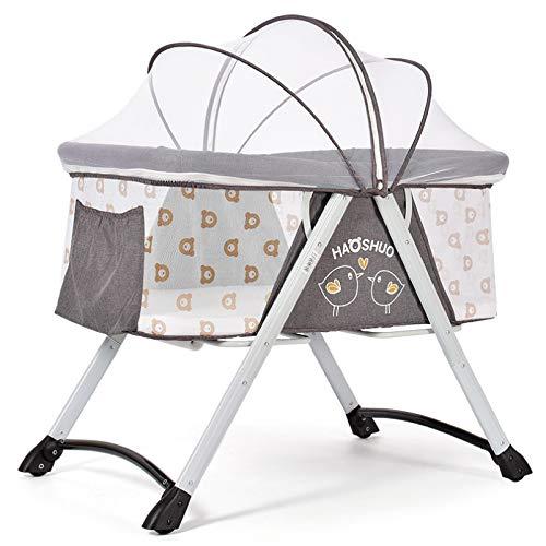Klappbare Stubenwagen Reisebett Wiege Kinderbett Baby Mit Moskitonetz Und Matratze Schlaf Artefakt,A - Eisen-baby-wiege