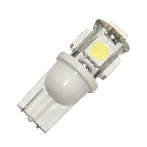 ETbotu Lot de 10 Ampoules de Rechange 5 LED pour éclairage de Paysage Malibu 194 T10 T5 Blanc Froid 12 V DC 1407 W