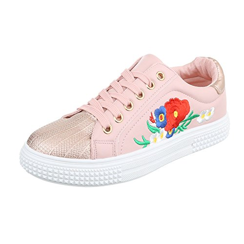 Sneakers casual rosa per donna