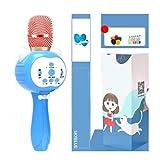 Karaoke, Microfono for Bambini Audio One, Microfono Wireless Bluetooth Home Macchina for Canto Karaoke, Principessa in Polvere [Versione for la Luce] (Color : Blue)