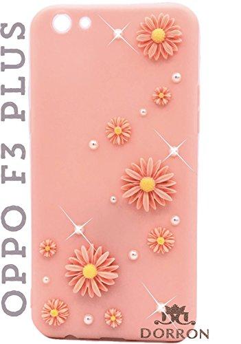 the best attitude 27c7d 9cf9e DORRON Glitter Bling Stylish Designer Transparent Liquid Waterfall Soft  Fancy Back Phone Case Cover for Oppo F3 Plus (Pink_Floating Love Heart)