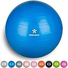 BODYMATE Gymnastikball mit GRATIS E-Book inkl Luft-Pumpe Fitness Yoga Core