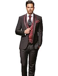 Herren anzug schwarz rot
