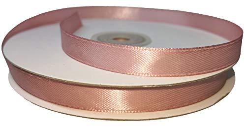Nastro doppio raso 10 mm rotolo bobina 50 metri ribbon satin (rosa antico)