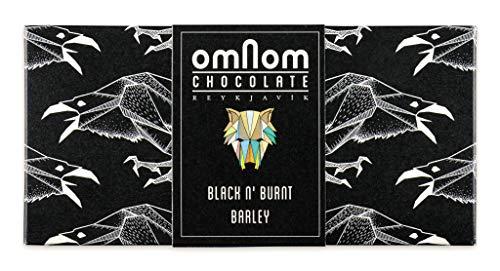 OMNOM Black n' Burnt Barley Schokolade | Aromen von Gerösteten Toast, Kaffee, Malz | Ethische Rohstoffgewinnung & Nachhaltige Zutaten | Preisgekrönte Gourmet Schokolade | Luxus Geschenk | Tafel