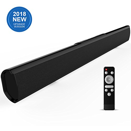Sound bar, Meidong 2.1 Channel Sound bars for TV Strong Bass Wireless and Wired Bluetooth Audio Speakers 40 Watt, 37-Inch Included Optical Cable, Remote Control