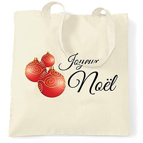 Joyeux Noel Printed Slogan Zitat Design Premium-Qualität Neuheit Tragetasche (Festliche Zitate Für Weihnachten)