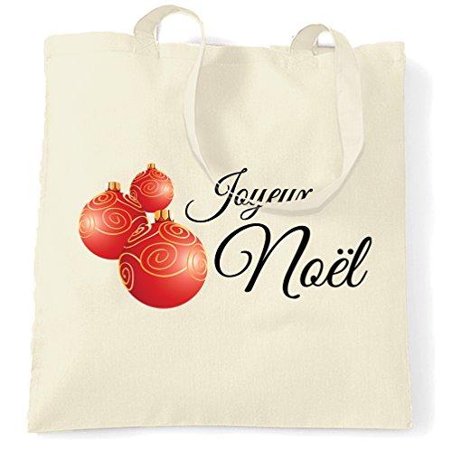 Tote Bag Novità Joyeux Noel Stampate Design Premium Novità Novità Naturali