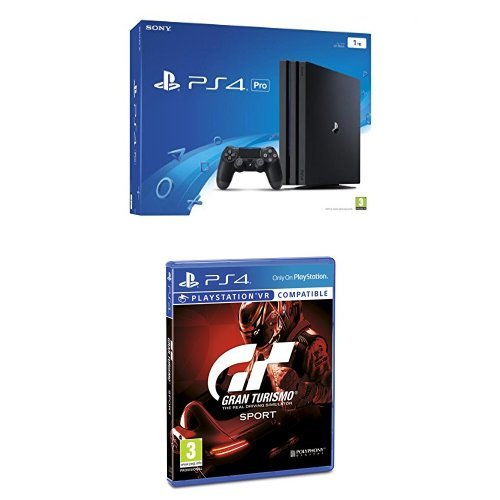PlayStation 4 Pro (PS4) - Consola + Voucher 10 € + Voucher ¡Has Sido Tú! Chasis B + Gran Turismo Sport - Edición Estándar
