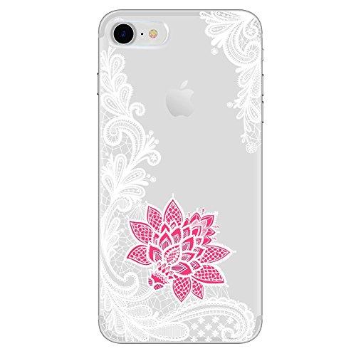 Pnizun - Lace Mandala-Kasten für iPhone X 8 7 6 6S Plus-XS XS Max XR Capa Für Xiaomi Redmi 4 4A 3S 3 S 4X Anmerkung 3 4 Pro Prime Mi A1 5X 5A S2 [weiß Rot Für iPhone XS Max] - Handy-kästen Für 3 Anmerkung