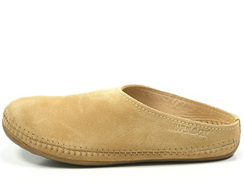 Haflinger 488023-0 Everest Softino Damen Hausschuhe Pantoffeln Leder , Schuhgröße:39;Farbe:Beige (Haflinger Leder-schuhe)