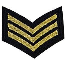 Parches - militar Army - oro - 5,5x5,1cm - termoadhesivos bordados aplique para ropa