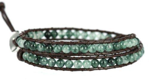 blueyes-collection-smart-aqua-vert-agate-perle-en-acier-inoxydable-snap-bouton-de-verrouillage-wrap-