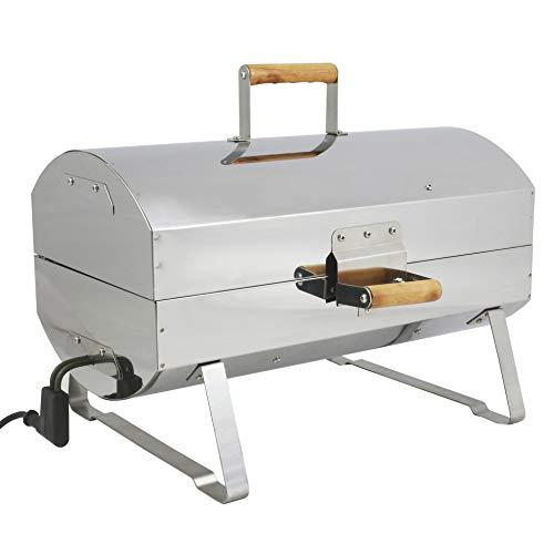 MUURIKKA Nokkela Räucherofen 1200W kompakter Elektro-Smoker aus Edelstahl, für Fisch & Fleisch, auch als Grill