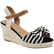 057e0d16074 By Shoes - Sandale Compensée en Corde de Chanvre - Femme