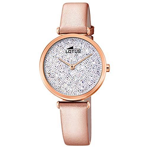 f36f15dda550 Lotus Reloj Analógico para Mujer de Cuarzo con Correa en Cuero 18608 1