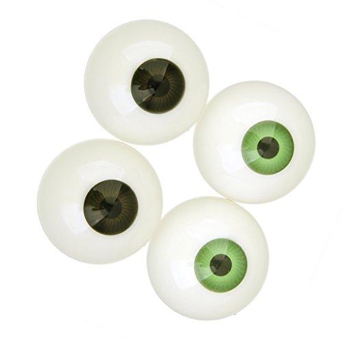 2 x Puppenaugen Augapfel Kunststoffaugen Puppen Augen Halloween Deko (Augäpfel Halloween)