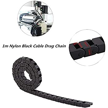 Corrosion Resistance,not Easy to Deform,Fast Moving Speed,for 3D Printer ,Wear Resistance 1000mm//40 Long CNC Machine Tools etc Cable Drag Chain,R28 Nylon Cable Drag Chain