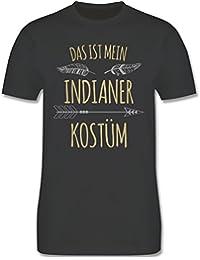 Karneval & Fasching - Das ist Mein Indianer Kostüm - Herren T-Shirt Rundhals
