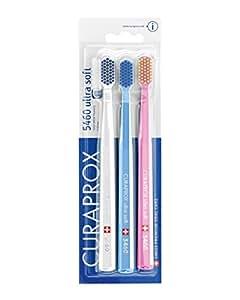 Curaprox CS 5460 Handzahnbürste Ultra soft, 3 Stück, (farblich sortiert, Farbe nicht wählbar)