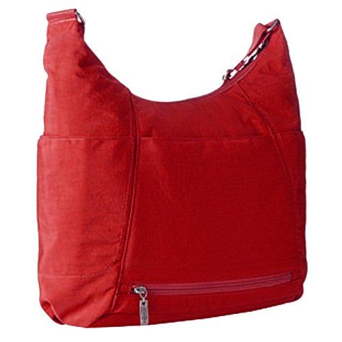 Baggallini - Sac à main bandoulière à poches toile bohème fonctionnel APPLE