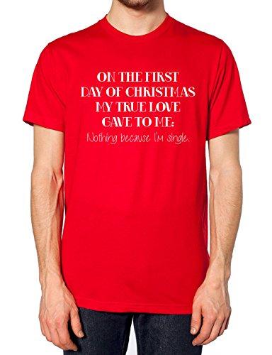 Auf der erste Tag des Weihnachten My True Love Gave to me T Shirt Rot