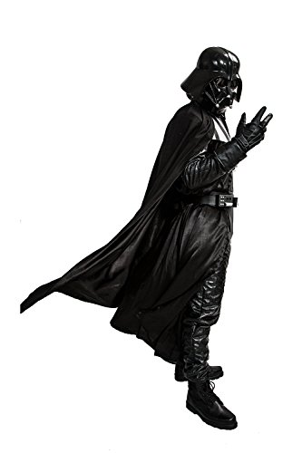 eidung Darth Kostüm Deluxe Dress Black Series Erwachsene Jumpsuit Abendkleid Outfit für Herren (Custom Made Darth Vader Kostüm)